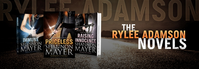 The first three Rylee books... with their gorgeous new covers!